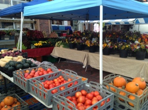 Market stand showcases the merge of summer crops and fall crops