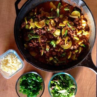 tacos with greens and summer squash